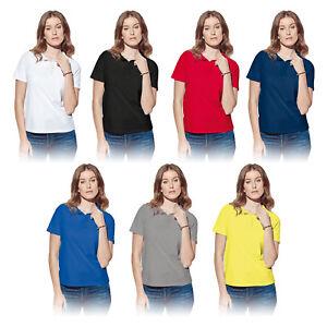 DAMEN-POLOSHIRT-ST3100-S-XXL-UNIFARBEN-Arbeitsshirt-Kurzarm-Polo-Shirt-Workwear
