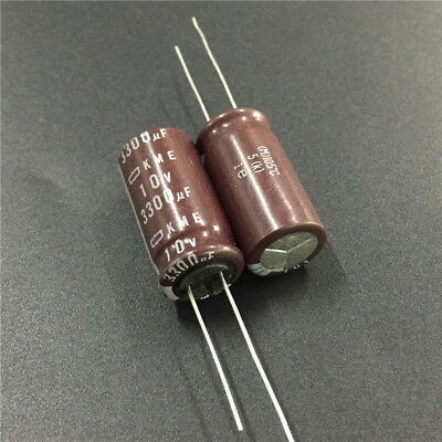 5pcs 10V 3300uF 10V NCC Nippon KMF 12.5x25mm High ripple current Capacitor