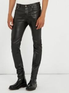 MEN-039-S-LEATHER-JEANS-THIGH-FIT-OUTRAGEOUSLY-LUXURY-PANTS-TROUSERS-HOT