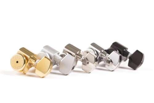 Hipshot Fender Drop-in Upgrade Directrofit locking 2-pin tuner kit Gold Lefty