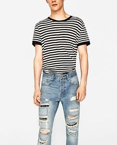 cb0295504df New Zara Ripped, carrot fit jeans with studs W31 100% cotton | eBay