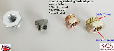 La BZP Acero Hexagonal reducir Socket Bush del cárter Adaptador Enchufe fontanería bsp//matric Hilo