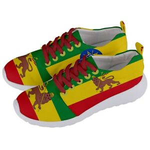 1f58e912d4b2 ETHIOPIA lion of judah Ethiopian Africa Coat Of Arms Flag Sneaker ...