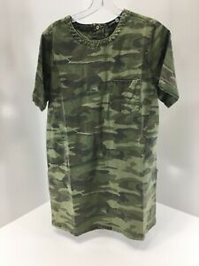 Boohoo-Womens-Jessie-Camo-Denim-Shift-Dress-US-10-UK-14-NWT