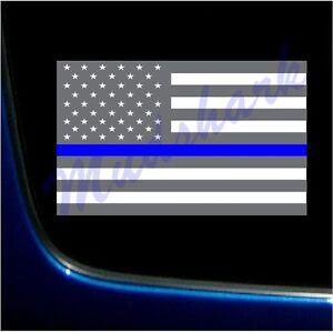 Blue Lives Matter Police Support American Flag Sticker