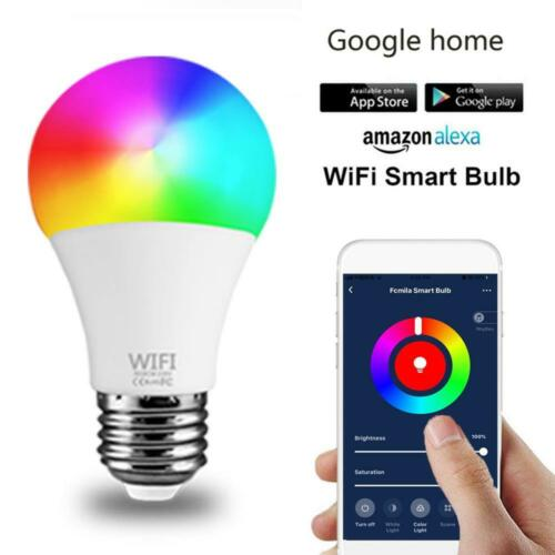 WiFi Smart Light Bulb E27 RGB+CCT LED Lamp Amazon Alexa//Google Home Control