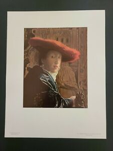 "Jan Vermeer National Gallery of Art Print: ""The Girl With A Red Hat""- Un-Framed"