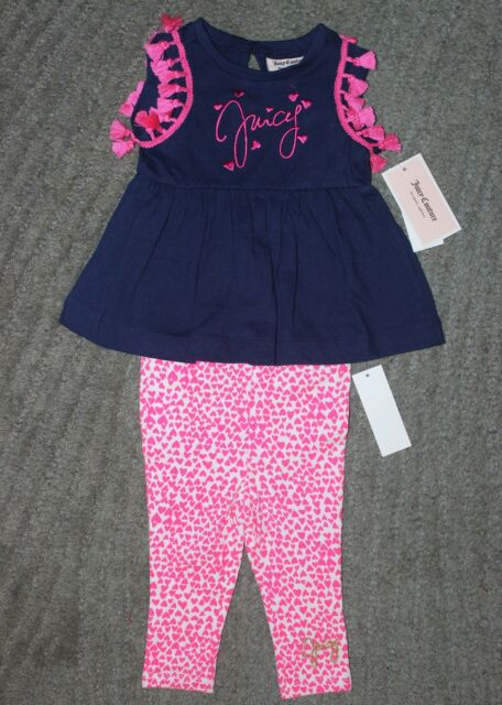4be4848c9 Juicy Couture Baby Girls 2 Piece Sleeveless Outfit - Size 18 Months - NWT