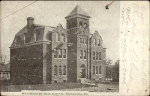 Westminster-MD-High-School-c1910-Postcard-rpx
