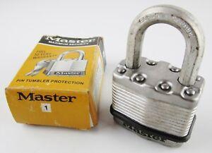 Master-Lock-Padlock-Pin-Tumbler-USA-w-Box-No-Key-Locked