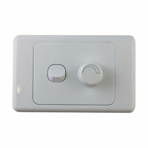 2-Gang-Wall-Plate-with-Switch-amp-LED-Light-Dimmer-SAA-Approved