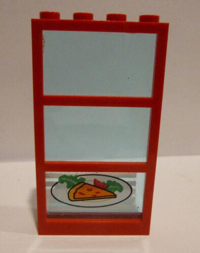 1 x LEGO® 57894//6160 Fenster rot,hellblau Restaurant beklebt wie auf dem Foto°