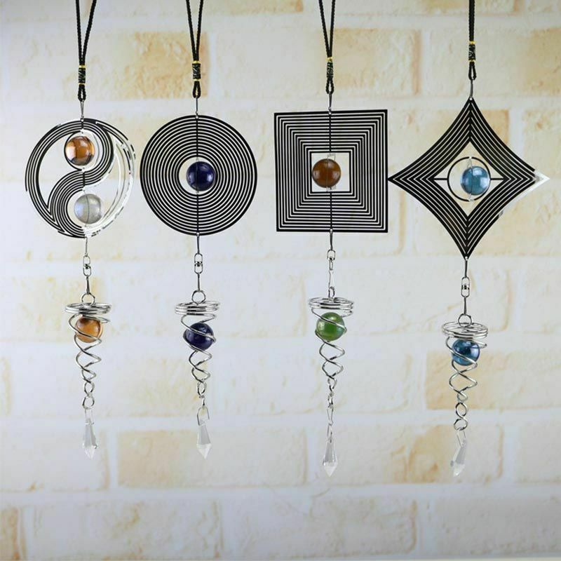 Scandinavian Style Dream Catcher Rotating Wind Chime Hanging Ornament Decoration