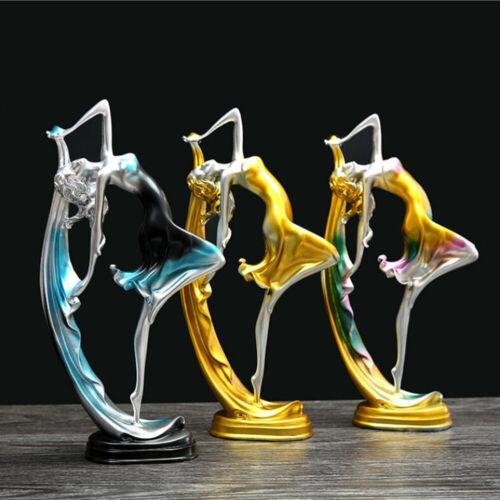 Nordic Dancing Girl Figure Statue Resin Craft Desktop Ornament Home Decor Gift