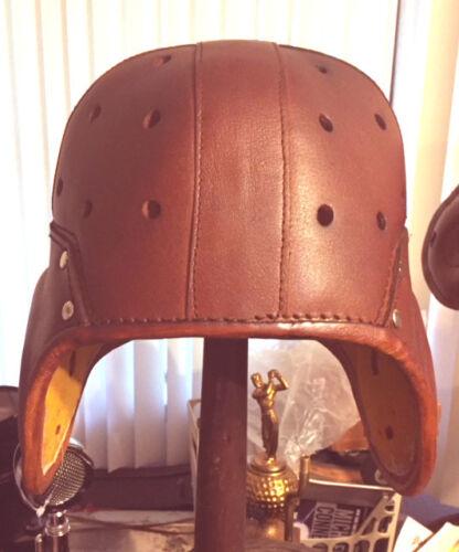 Heisman Style Leather Football Helmet 1920-30s 4 strap  Legendary   Adult Full