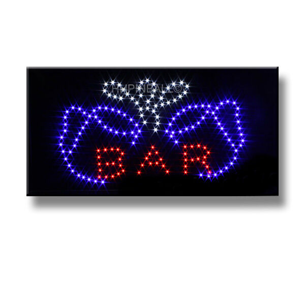 BAR - LED Schild Board Leucht Reklame Stopper Werbung Leuchtschild Sign Display