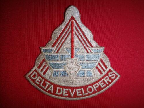 """Vietnam War Patch US 34th ENGINEER Battalion """"DELTA DEVELOPERS"""""""