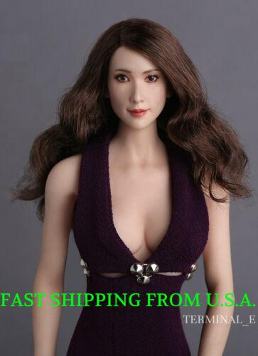 "1//6 Asian Female Head Sculpt GC008A For 12/"" TBLeague Phicen Hot Toys Figure❶USA❶"