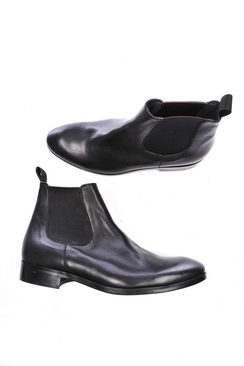 Stivaletti zapatos Daniele Alessandrini Ankle botas Pelle hombres negro F397K253406 1