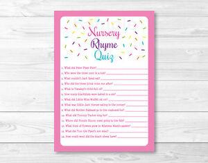 Image Is Loading Pink Baby Sprinkle Baby Shower Nursery Rhyme Quiz