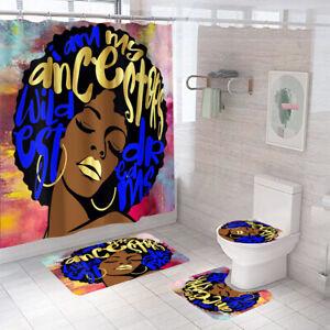 Bathroom-Rug-Set-Shower-Curtain-Non-Slip-Toilet-Lid-Cover-Bath-Mat-Pedestal-Mat