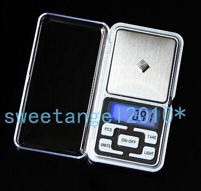 Portable Pocket Digital Jewelry Scales 200g 500g Exact 0.01g Electronic Balance