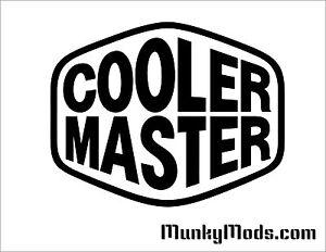 Cooler-Master-CM-Logo-Computer-Case-Window-Applique-Vinyl-Decal-Color-Choice