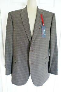 NWT Tommy Hilfiger TREVER THFLEX  Mens 48R Brown Suit Jacket $295