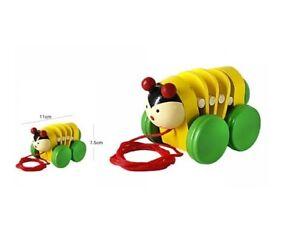 Constructif Ds Gioco In Legno Coccinella Con Ruote Corda Giocattolo Movimento Bambini Dfh