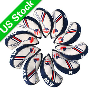 USA-FLAG-GOLF-Iron-Head-Covers-Headcovers-Club-Protection-For-Callaway-Titleist