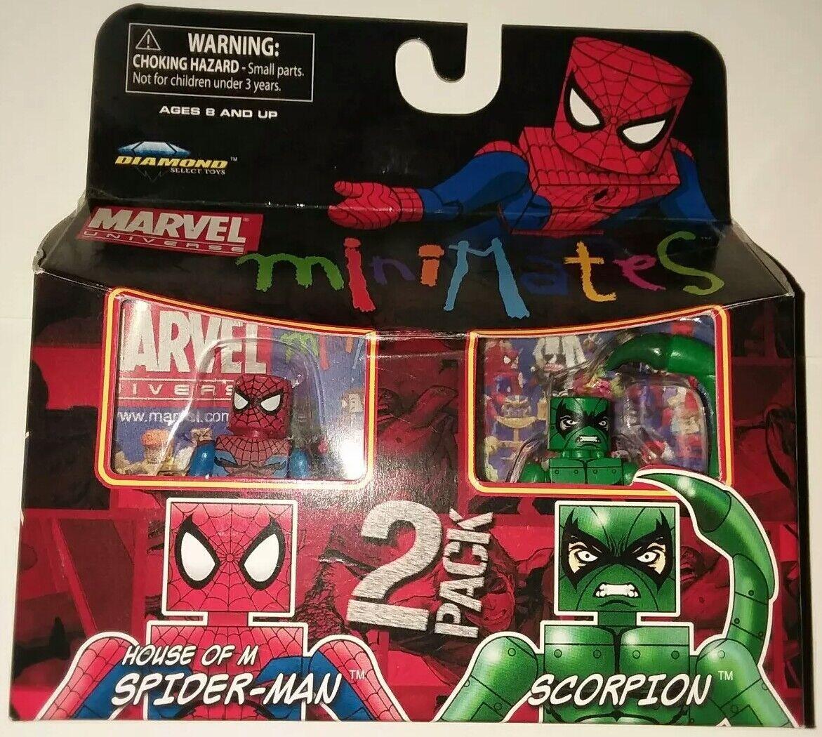 Minimates MARVEL HTF     HOUSE OF M SPIDER-MAN and SCORPION  b1b845