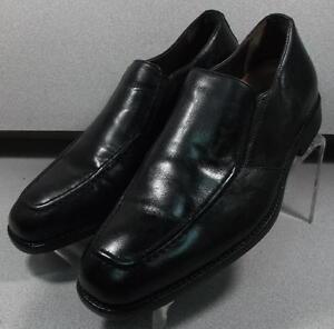 206285 PF50 Men's Shoes Size 11 M Black Leather Slip On Johnston & Murphy