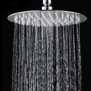 Round-Square-Stainless-Steel-Rain-Shower-Head-Rainfall-Bathroom-Top-Sprayer-LI