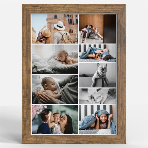Wooden Effect Photo Frame Picture Poster Wall Decor Collage Hanging A2 A3 A4