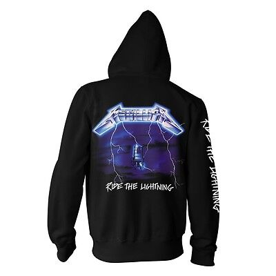 Metallica /'Ride The Lightning/' Zip Up Hoodie NEW /& OFFICIAL!