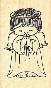 Image Is Loading Angel Praying Doll Wood Mounted Rubber Stamp JUDIKINS
