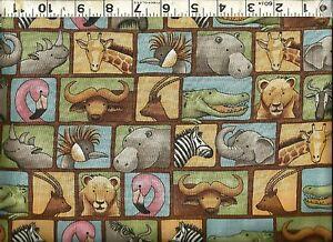 Lion fabric,Elephant fabric Tiger fabric Zebra fabric African fabric by the yard Gazelle fabric Leopard fabric Buffalo fabric