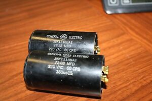 Pair Qty 2 General Electric Motor Start Capacitors 72
