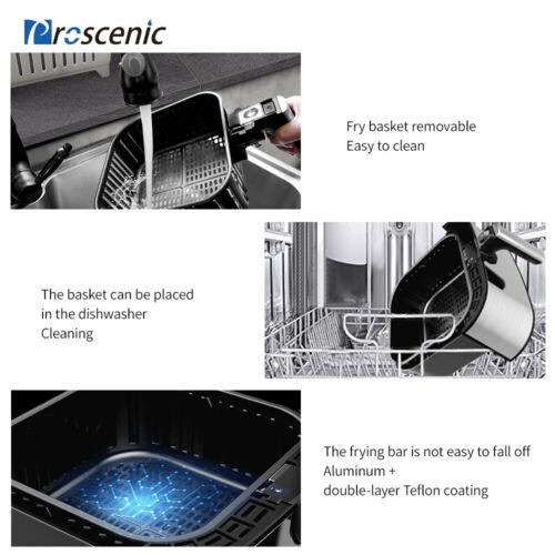 1700W Alexa Hot Air Fryers Deep Oven Oilless Cooker LED Nonstick Basket 5.8 QT