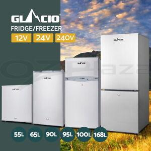 Glacio 55/65/90/95/100/168L Portable Bar Fridge Freezer Fridges Cooler Caravan