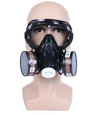 Full Face Gas Mask Reusable Respirator Painting Spraying Respirator Facepiece Us