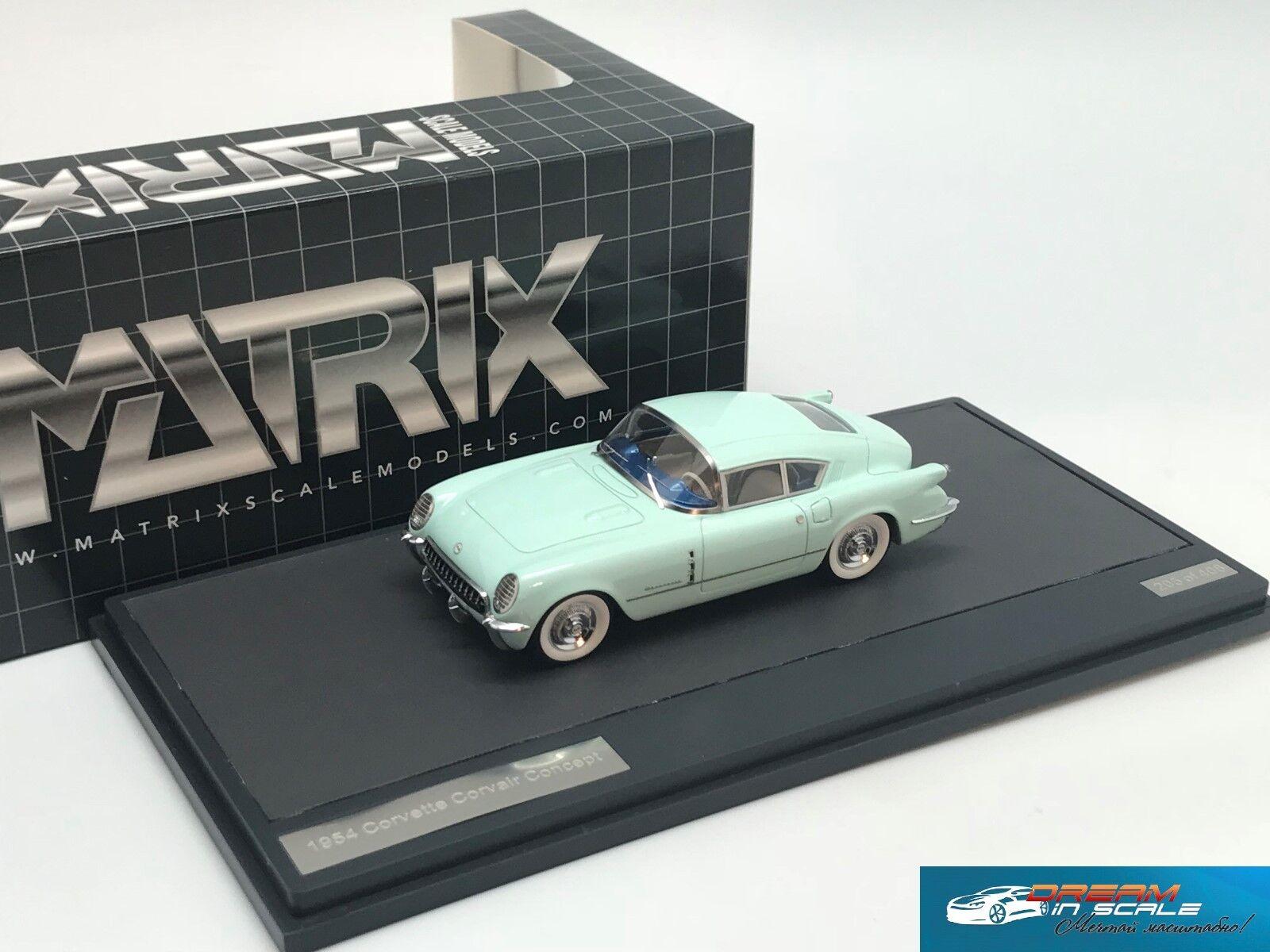 Chevrolet Corvette Corvair Concept Coupe  Green 1954 Matrix MX20302-091 1 43