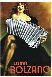 TARGA-VINTAGE-034-LAMA-BOLZANO-034-Pubblicita-Advertising-Poster-Plate-Art-Retro