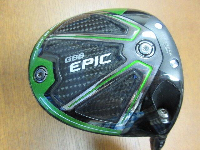 Slightly used Callaway Golf EPIC SUB ZERO 9.0 Driver ROGUE MAX 65S Stiff Men's