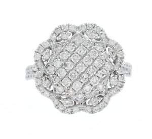 1-38Ct-Naturel-Diamant-14K-Blanc-Solide-or-Anneau-Bague