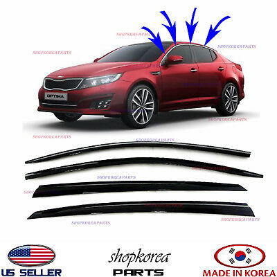 SMOKED DOOR VISOR WINDOW SUN WIND VENT DEFLECTOR fits KIA OPTIMA 2011-2015