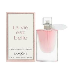 Lancome-La-Vie-Est-Belle-Florale-Eau-de-Toilette-Spray-50ml-Brand-New-in-Box