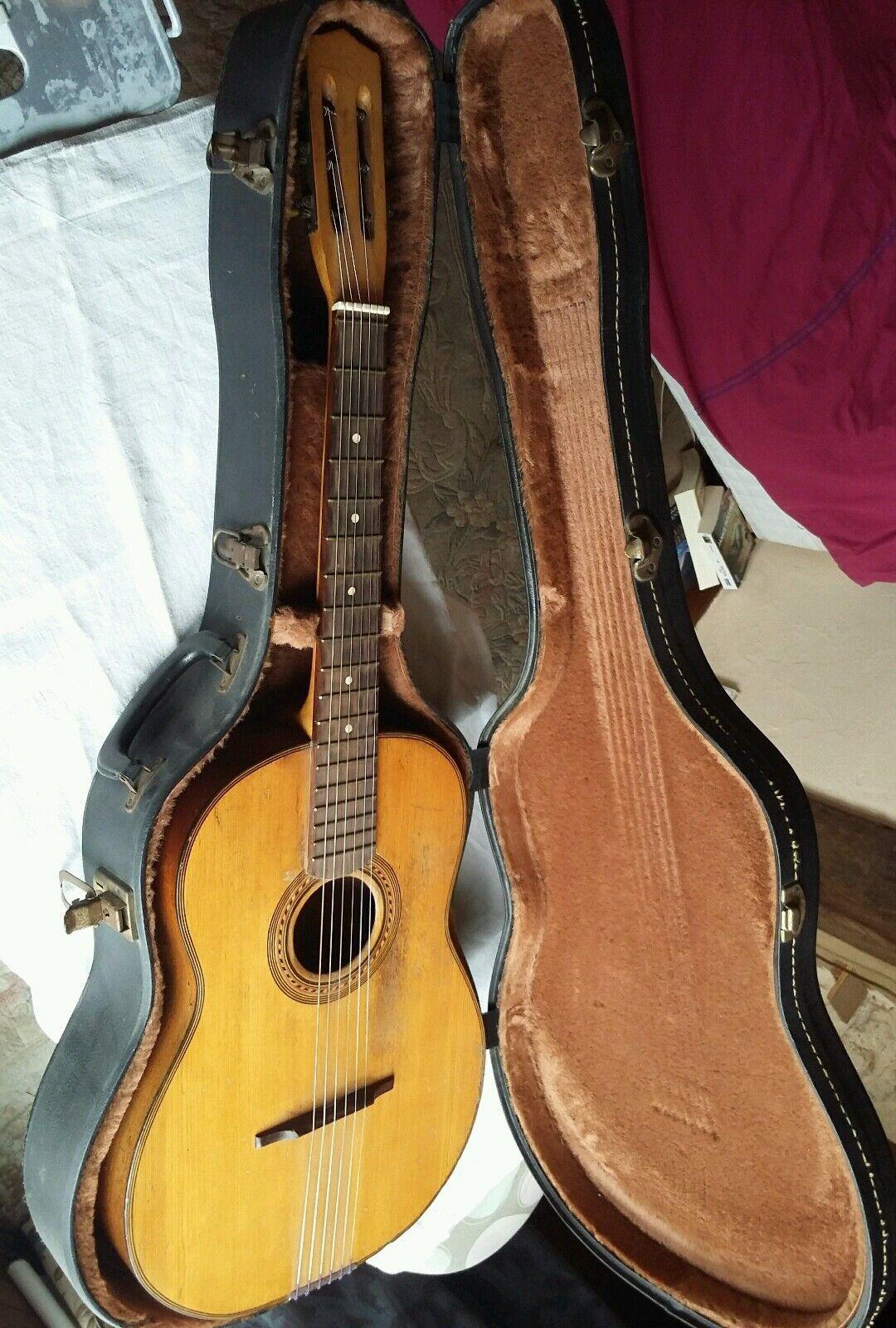 Ancienne guitare manouche old gypsy guitar luthier jazz espagnole parisienne