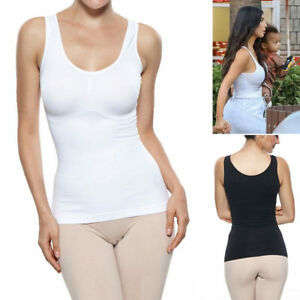 d4d925db88b19 Women s Slim Tank Top Tummy Control Seamless Camisole Body Shaper ...