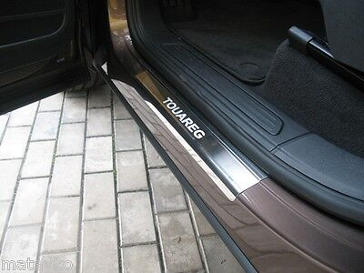 Stainless steel door sill scuff plate Guards for VW Touareg 2011 2012 2013 2014